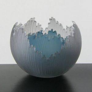 Grey Blue Bowls