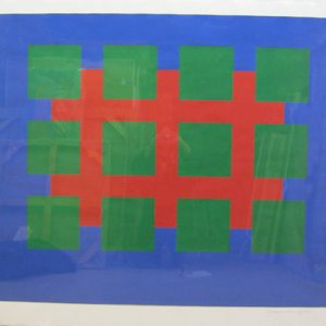 Untitled - Green Squares on Blue