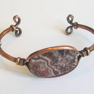 Agate & Copper Cuff