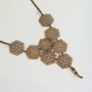 Copper Filigree Necklace