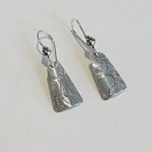 Vintage Silver Triangle 1 Earrings