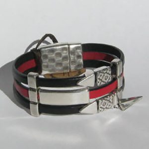 Red Black Triple Cuff
