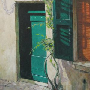 Vine and Green Door