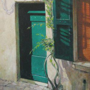 Vine and Green Door