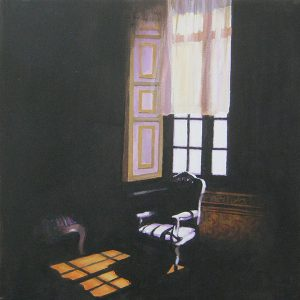 Window With 2 Chairs, Chateau, Loire Valley