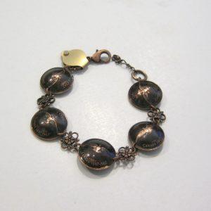 1967 Copper Domed Penny Bracelet