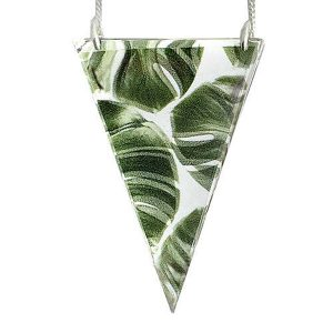 Palm Acrylic Pendant With Silver Chain