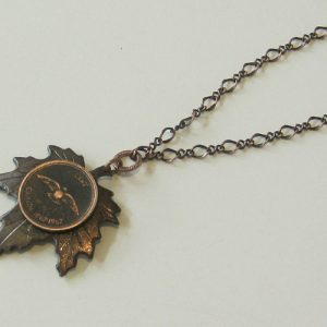 1967 Penny Leaf Necklace