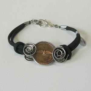 1967 Penny Silver Leather Bracelet