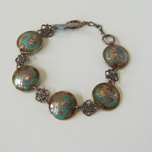 2012 Green Domed Penny Bracelet