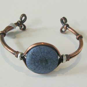Blue Sponge Coral Copper Cuff