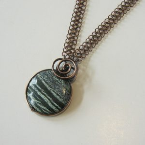Forest Jasper Copper Necklace