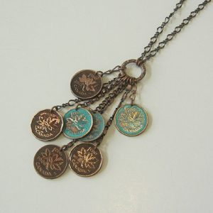 Multipenny Copper Necklace
