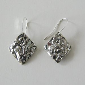 Vintage Silver Diamond 4 Earrings
