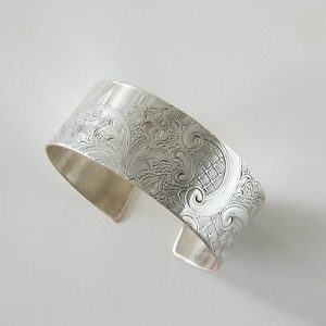 Vintage Silver Scroll #1 Wide Cuff