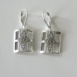 Vintage Silver Square 2 Earrings