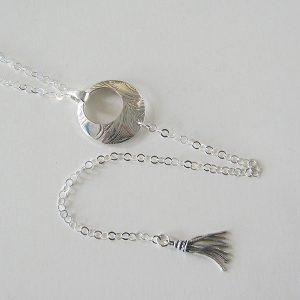 Vintage Silver Tassel Necklace