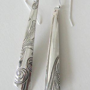 Vintage Silver Triangle 2 Earrings