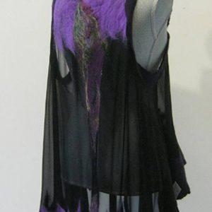 Black Silk & Wool Vest