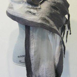 Grey Silk Wool Shawl