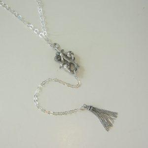 1800 Vintage Silver Handle Necklace