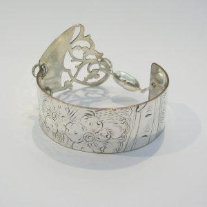 Vintage Silver Candy Dish Cuff