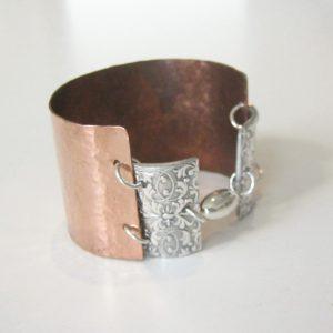 Copper Silver Cuff