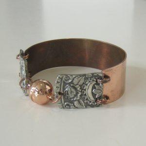 Copper Silver Medium Cuff