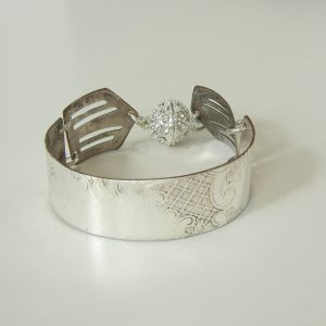 Vintage Silver Cut Out Cuff Medium