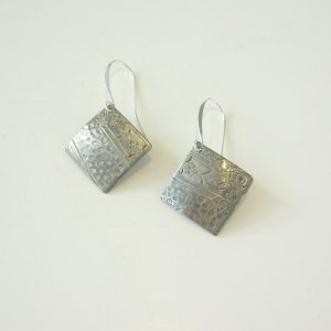 Vintage Silver Diamond Earrings 8