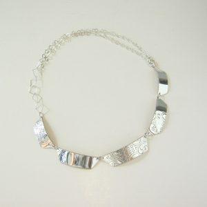 Vintage Silver Diamond Necklace