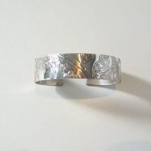 Vintage Silver Scroll Cuff 1