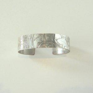 Vintage Silver Scroll Cuff 2