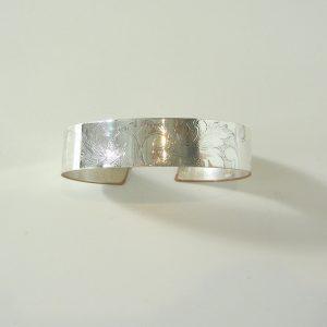 Vintage Silver Scroll Cuff 3