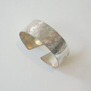 Vintage Silver Scroll Wide Cuff 2