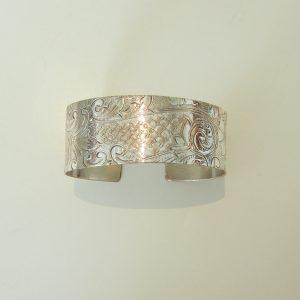 Vintage Silver Scroll Wide Cuff 3