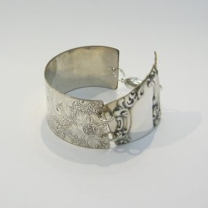 Vintage Silver Serving Tray Cuff