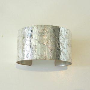 Vintage Silver X Wide Cuff