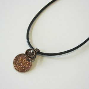 1991 Penny Leather Necklace