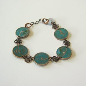 1967 Green Penny Bracelet