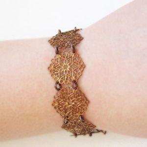 Copper Filigree Bracelet