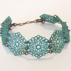 Green Filigree Bracelet