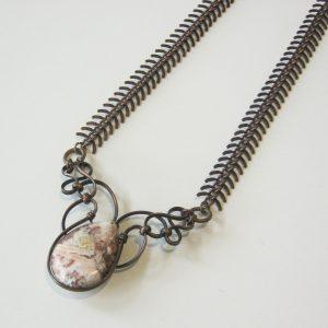 Lace Agate Vertebrae Necklace