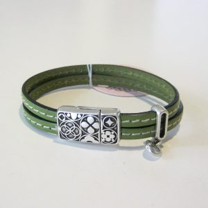 Penny Olive Double Cuff
