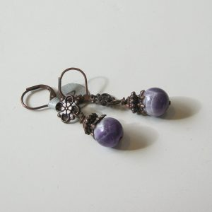 Amethyst & Copper Earrings
