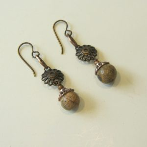 Desert Jasper & Copper Earrings