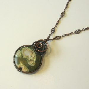 Green Forest Jasper & Copper Necklace