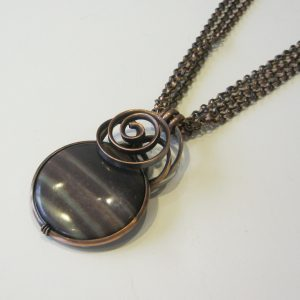 Ocean Striped Jasper & Copper Necklace