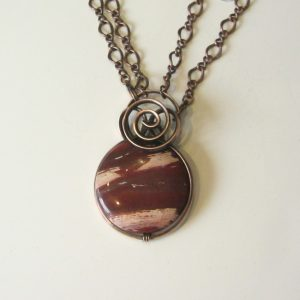 Red Agate & Copper Necklace