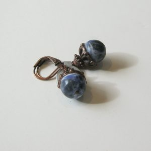 Sodalite & Copper Earrings